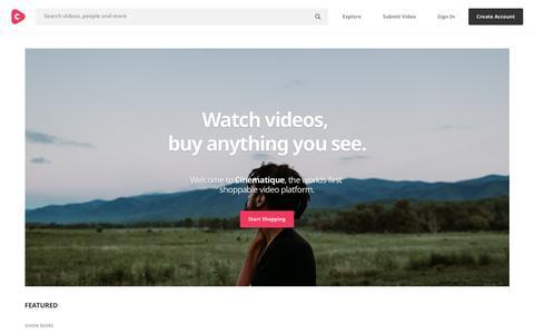Screenshot of Support Page cinematique.com - Cinematique - captured April 11, 2018
