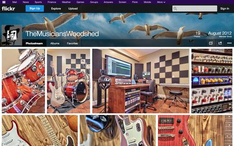 Screenshot of Flickr Page flickr.com - Flickr: TheMusiciansWoodshed's Photostream - captured Oct. 26, 2014