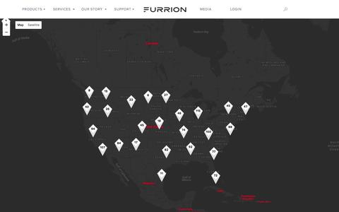 Screenshot of Maps & Directions Page furrion.com - Map - Furrion - captured June 6, 2017