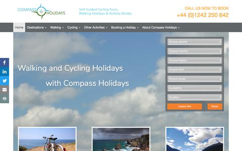 Screenshot of Home Page compass-holidays.com - Walking & Cycling Holidays with Compass Holidays - Compass Holidays - captured May 20, 2017