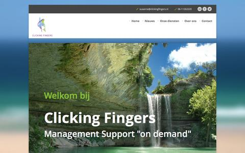 Screenshot of Home Page clickingfingers.nl - Clicking Fingers - captured Sept. 30, 2014