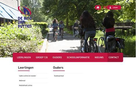 Screenshot of Login Page deringvanputten.nl - Ring van Putten Login - Ring van Putten - captured Feb. 13, 2016