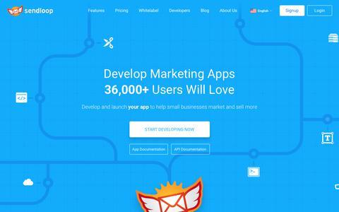 Screenshot of Developers Page sendloop.com - Developers | Sendloop - captured June 25, 2017