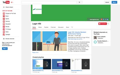 Screenshot of YouTube Page youtube.com - Login VSI  - YouTube - captured Oct. 23, 2014