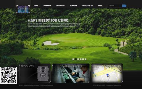 Screenshot of Home Page soco-china.com - Superior Optics Company - captured Oct. 7, 2014
