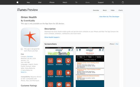 Orion Health on the App Store