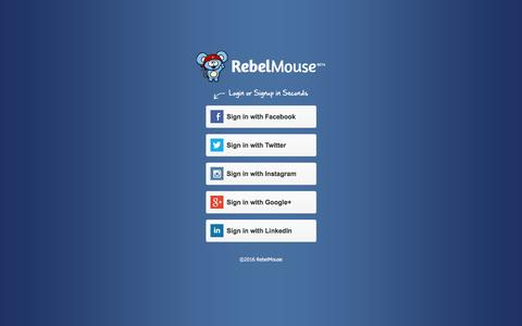 Screenshot of Login Page rebelmouse.com - Log in - captured March 30, 2016