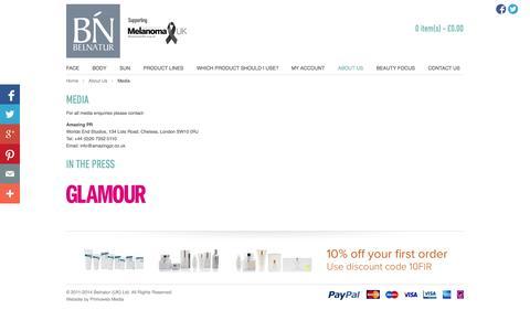Screenshot of Press Page belnatur.co.uk - Belnatur - Media - captured Nov. 3, 2014