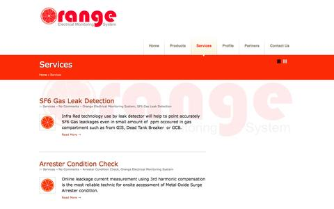 Screenshot of Services Page orange-monitoring.com - Services | ORANGE Electrical Monitoring Services - INDONESIA - captured Sept. 30, 2014