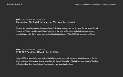 Screenshot of Blog ueberbit.de - Blog - UEBERBIT - captured Sept. 19, 2014