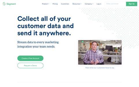 Analytics API and customer data hub | Segment
