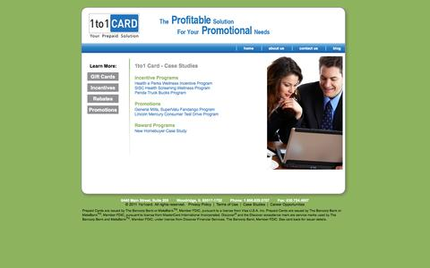 Screenshot of Case Studies Page 1to1card.com - Corporate Prepaid Cards | Employee Reward Cards - captured Oct. 27, 2014