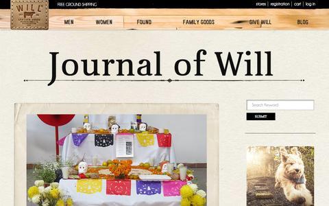Screenshot of Blog willleathergoods.com - Blog - WILL Leather Goods - captured Nov. 3, 2014