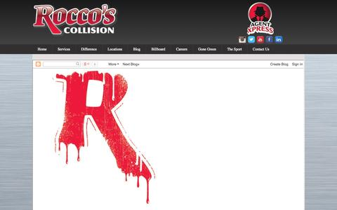 Screenshot of Blog roccoscollision.com - Blog | Rocco's Collision - captured Oct. 6, 2014