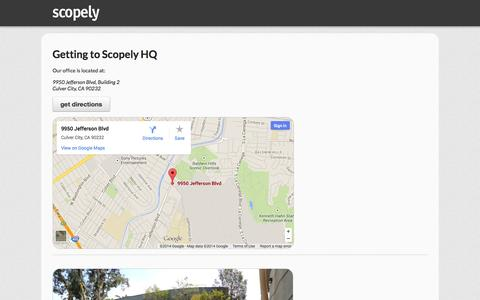Screenshot of Maps & Directions Page scopely.com - SCOPELY - It's Your Turn - captured Sept. 17, 2014
