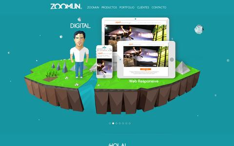 Screenshot of Home Page zoomun.com - ZOOMUN Design Agency - captured Sept. 30, 2014