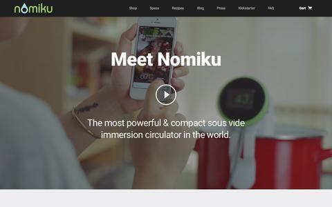Screenshot of Home Page nomiku.com - Nomiku - Let's cook better together. - captured July 3, 2015