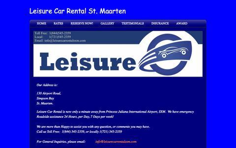 Screenshot of Contact Page leisurecarrentalsxm.com - Contact Us - Leisure Car Rental St. Maarten St. Martin - captured Oct. 2, 2014