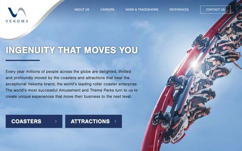 Screenshot of Home Page vekoma.com - Vekoma Rides Manufacturing BV - captured Nov. 17, 2018
