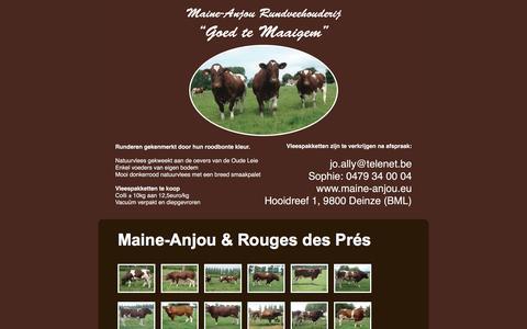 Screenshot of Home Page maine-anjou.eu - Maine Anjou | Goed te Maaigem - captured June 4, 2016