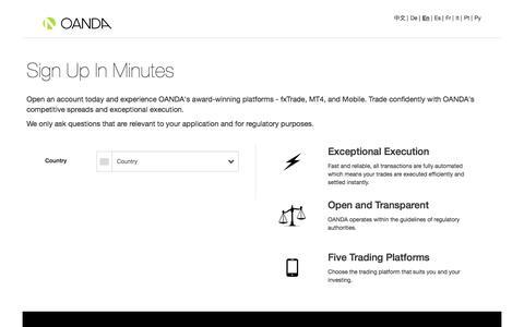 Open a Forex Account - OANDA