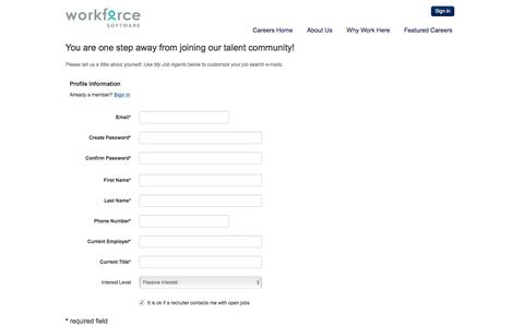 Subscribe - Jobs at Workforce Software