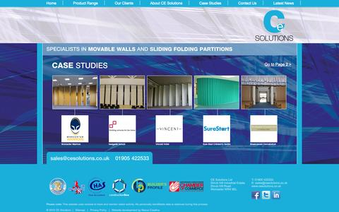 Screenshot of Case Studies Page cesolutions.co.uk - Case Studies : CE Solutions Ltd - captured Oct. 1, 2014