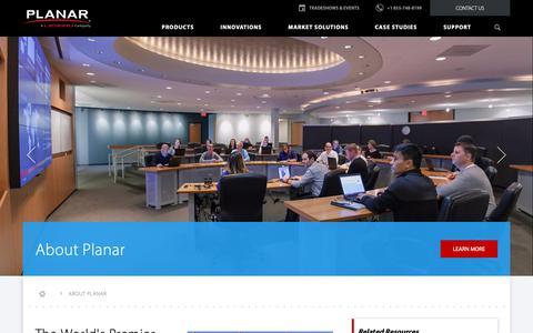 Screenshot of About Page planar.com - About Planar | Planar - captured Nov. 20, 2018