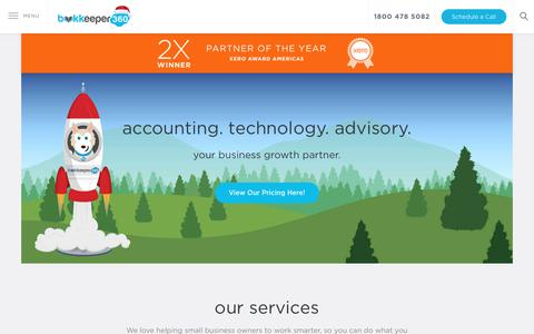 Screenshot of Home Page bookkeeper360.com - Bookkeeper360: Xero Platinum Bookkeeping and Accounting Firm - captured Dec. 13, 2018