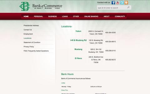 Screenshot of Locations Page bocokla.com - Locations   El Reno, Mustang, Yukon, Oklahoma - captured Oct. 5, 2014
