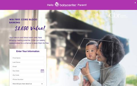 Screenshot of Landing Page cordblood.com - Cordblood - captured Sept. 19, 2018