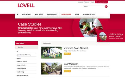 Screenshot of Case Studies Page lovell.co.uk - Case Studies Archive | LovellLovell - captured Oct. 3, 2014