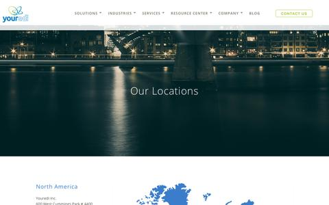 Screenshot of Locations Page youredi.com - Our Locations - captured June 19, 2017
