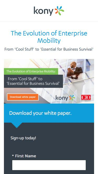Kony | The Evolution of Enterprise Mobility