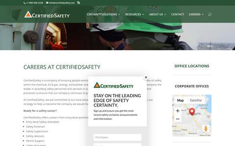 Screenshot of Jobs Page certifiedsafety.net - CertifiedSafety Careers   CertifiedSafety - captured Sept. 27, 2018