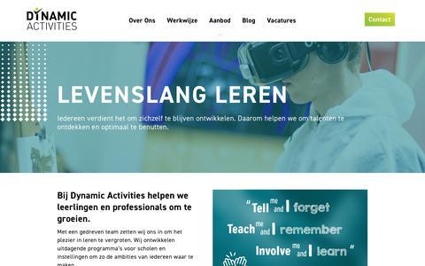 Screenshot of Home Page dynamicactivities.nl - Dynamic Activities | Levenslang leren - captured May 11, 2018