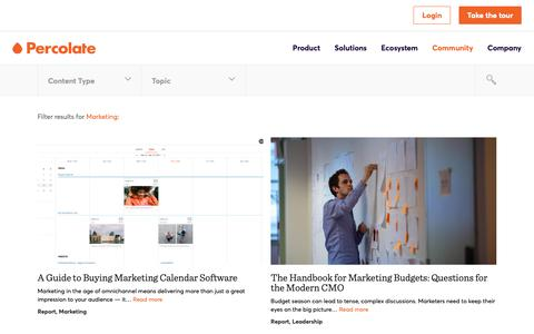 Screenshot of Team Page percolate.com - Marketing Archives | Content Marketing Resources + Insights | Percolate - captured Feb. 11, 2019