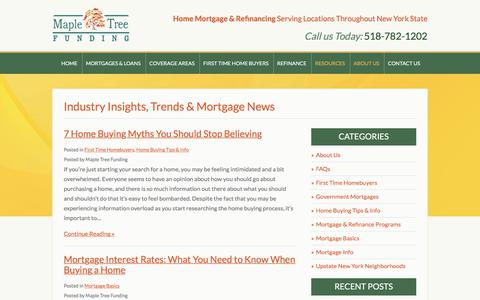 Screenshot of Blog mapletreefunding.com - Insights, Trends & NY Mortgage Information from Maple Tree Funding - captured Sept. 20, 2018