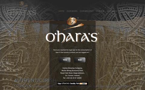 Screenshot of Press Page carlowbrewing.com - Press Room | O'Hara's | Carlow Brewing Company - captured Oct. 1, 2014