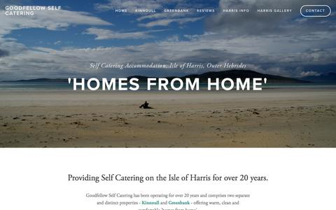 Screenshot of Home Page goodfellowselfcatering.com - Goodfellow Self Catering - captured Nov. 27, 2016