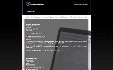 Screenshot of Contact Page kessler-web.co.uk - Kessler Associates | Contact - captured Nov. 15, 2018