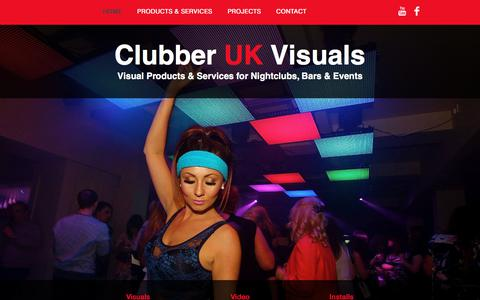 Screenshot of Home Page clubberuk.com - Clubber UK Visuals - captured Aug. 2, 2017