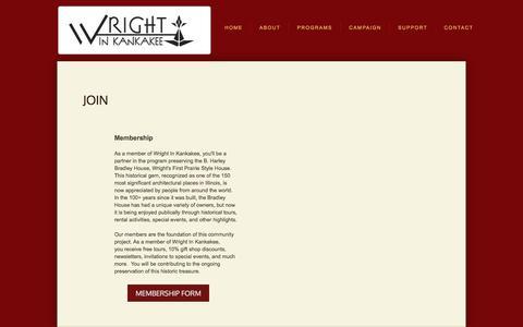 Screenshot of Signup Page wrightinkankakee.org - Join - captured June 18, 2017