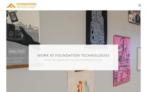Screenshot of Jobs Page fndtn.com - Work – Foundation Technologies - captured Jan. 17, 2018