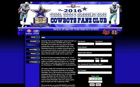 Screenshot of Signup Page fanz.club - Join - 2016 CowboysFanZ - captured May 1, 2017