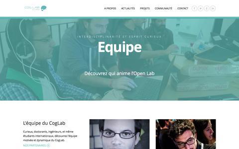 Screenshot of Team Page coglab.fr - Equipe | CogLab - captured Dec. 10, 2015