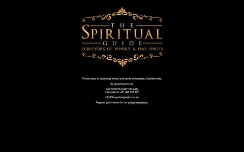 Screenshot of Home Page thespiritualguide.com.au - The Spiritual Guide :: Purveyors of Whisky and Fine Spirits - captured Dec. 22, 2016
