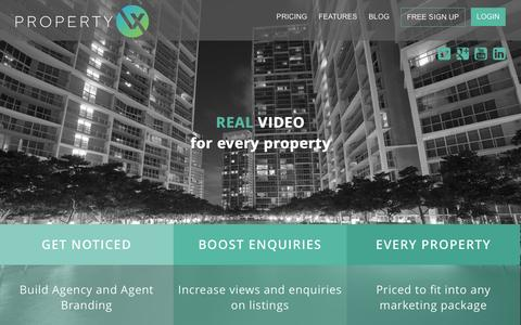 Screenshot of Pricing Page propertyvx.com - PropertyVX - captured Sept. 30, 2014