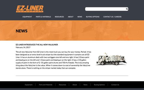 Screenshot of Press Page ezliner.com - News – EZ-Liner - captured July 12, 2017