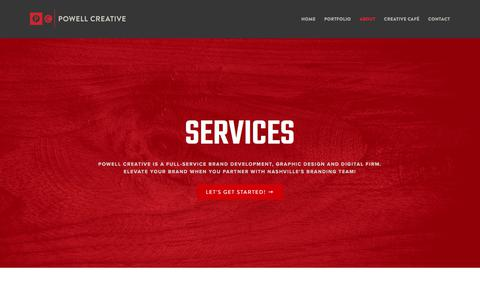 Screenshot of Services Page powellcreative.com - Services – Powell Creative - captured Aug. 17, 2017